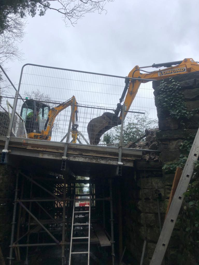 IN PROGRESS -The Gully Bridge - New Bridge Over Old Chester Road, Helsby Cheshire